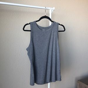 Old Navy classic high neck tank, size L, gray.